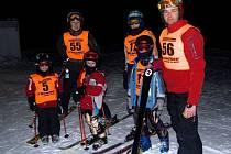 Tým Ski klub Hranice. Zleva Eva Hotařová, Ilona Hotařová, Martin Kuča, Jan Ličman, Michal Kuča, Jiří Kuča.