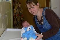 Maminka Dagmar se synem Martinem, který se narodil 15.1. 2008. Jeho míry jsou 52 cm a 3,55 kg.