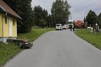 Nehoda motorkáře v Bělotíně