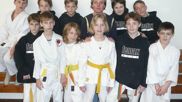 Judisté Femaxu Hranice s trenérkou Olgou Chytrou.