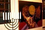 Vernisáž výstavy obrazů českého malíře Ivana Bukovského v hranické synagoze