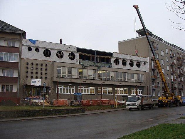 Rekonstrukce bývalé kavárny Bečva probíhá v těchto dnech