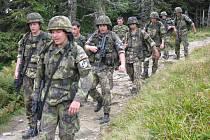 Vojáci ze 71. mechanizovaného praporu v Hranicích. Ilustrační foto