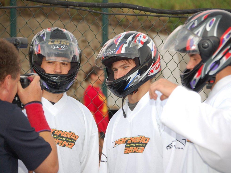 Hráči kanadsko-americké NHL závodili v rámci Grand Prix Jágr teamu na Maranello Racing Kart Areně v Lipníku nad Bečvou.