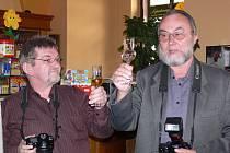 Evropské jazzové dny jsou jedinou příležitostí, při níž se každoročně scházejí a spolupracují Jiří Necid (vlevo) a Milan Kaštovský