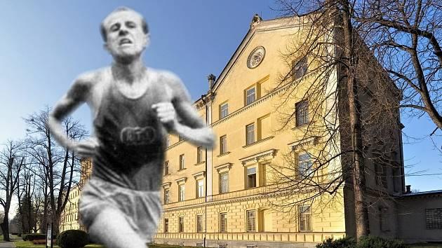 Emil Zátopek během studia na vojenské akademii v Hranicích trénoval na chodbách dnešních kasáren generála Zahálky