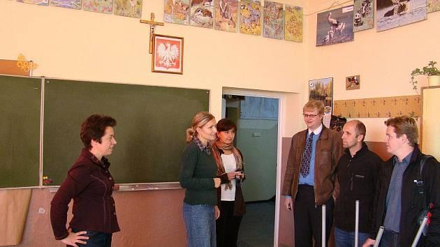 Fotografie z návštěvy zástupců škol v Polsku, v obci Kolonowskie