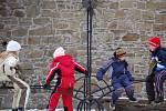 Mezi novoročními návštěvníky středověké památky byly i děti.