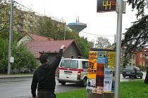 Informativní radar ve Zborovské ulici
