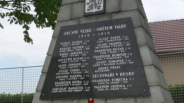 Památník obětem první světové války ve Velké