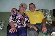 Manželé Pečeňovi z Hranic letos v červenci oslavili diamantovou svatbu