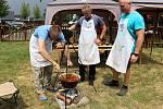 Soutěž O Zlatou vařečku 2019 ve vaření kotlíkového guláše ve Skaličce.