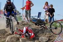 Martin Trnkal se ve finálové jízdě po ošklivém pádu nejrychleji zorientoval a dojel druhý v kategorii Expert.