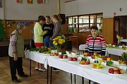Na podzimní výstavě byla kvidění řada odrůd ovoce a zeleniny.