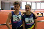 Hraničtí atleti Karel Brychta a Barbora Odstrčilová se podívali na mistrovství republiky staršího žactva.