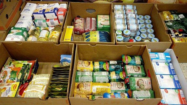 Při potravinové sbírce v Hranicích se podařilo vybrat téměř 600 kilogramů zboží.