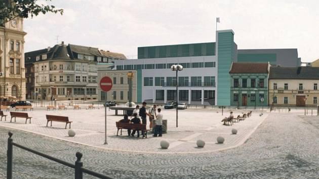 Návrh nového radničního komplexu na náměstí TGM v Přerově.