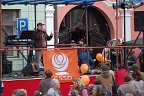 Předvolební mítink na Horním náměstí