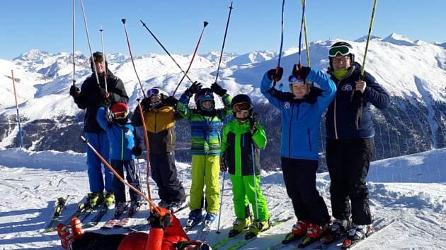 Ski klub Hranice na soustředění v italském Livignu