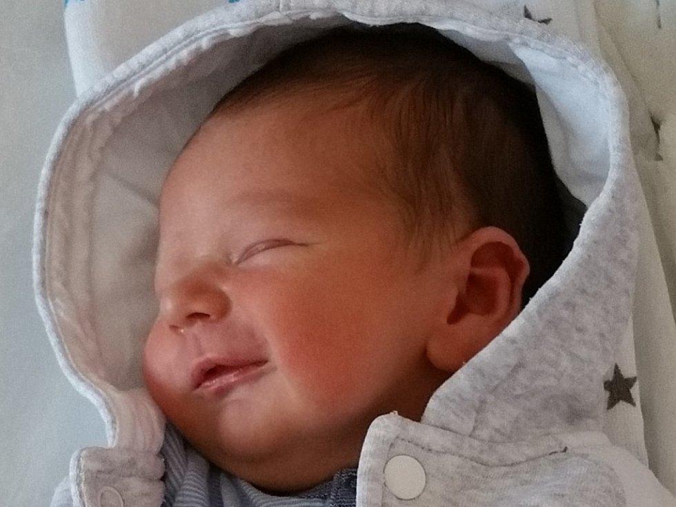 Samuel Hubáček, Přerov, narozen dne 24. srpna 2016 v Přerově, míra: 54 cm, váha 3578 g