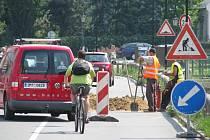 Dopravní omezení na ulici Komenského v Hranicích