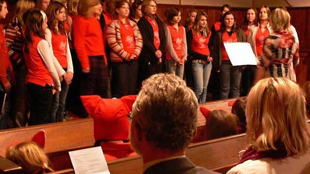 Koncert Hranického dětského sboru v evangelickém kostele v Hranicích