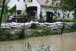 Potok Luha v Polomi den po silné bouřce