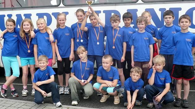 Mladí atleti SK Hranice měli minulý týden ve čtvrtek důvod k radosti.