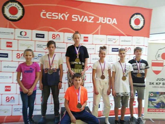 Úspěšní zástupci Judo Hranice na Českém poháru v Brně