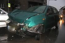 Ranní nehoda kvůli nepozornosti