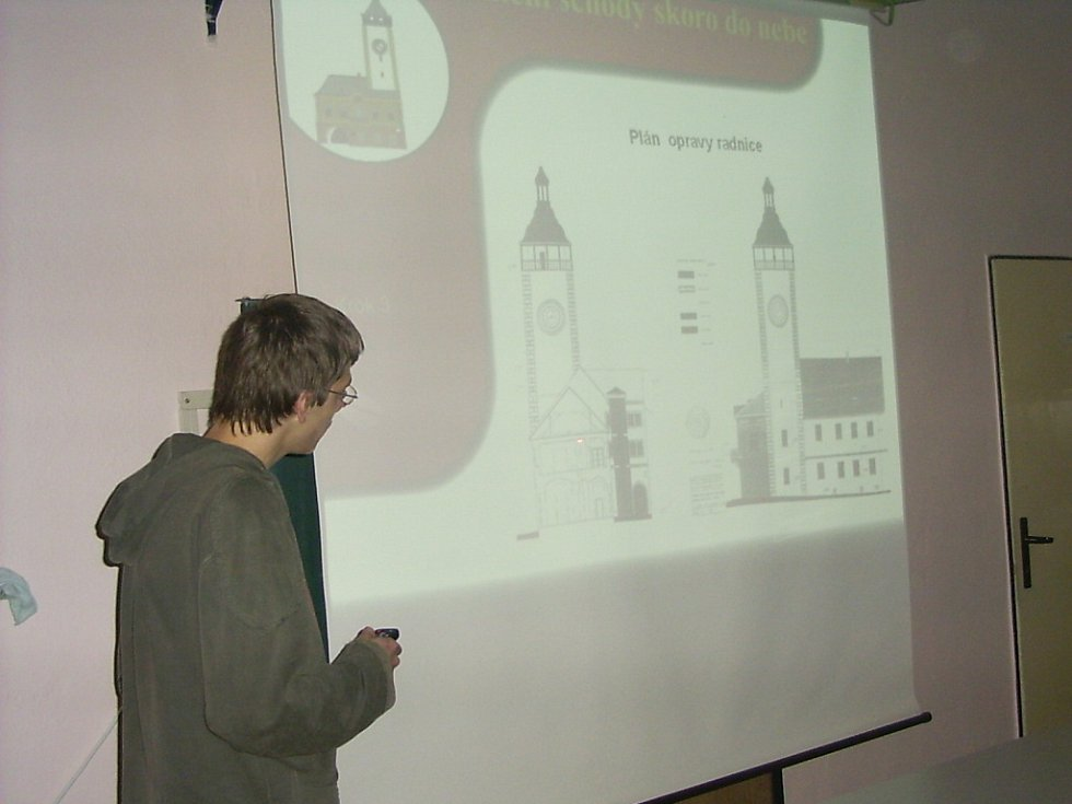 Svůj záměr prezentovali gymnazisté před svými vrstevníky v regionálním kole projektu Občan ve Frýdku- Místku, pro velký úspěch pak v září 2006 vycestovali na celostátní kolo do hlavního města.