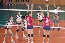 Volejbalistky PVK prohrály i osmé utkání, tentokrát se Slavií.