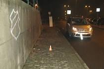 V Družstevní ulici v Hranicích auto srazilo dvě dívky. 4. 1. 2021