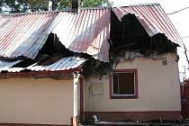 Požár rodinného domu v Porubě