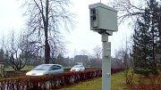 Mobilní radar na měření rychlosti v Hranicích