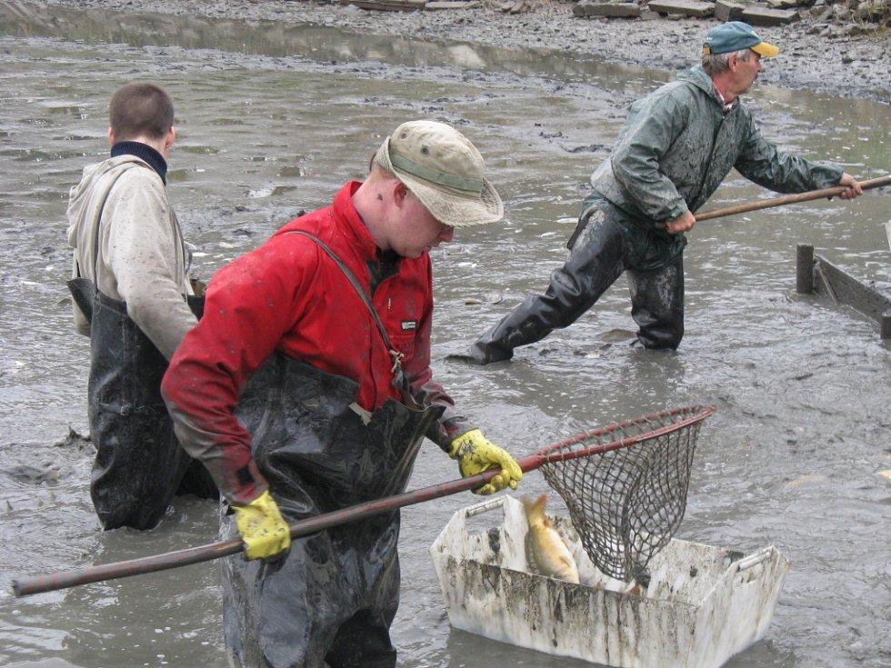 Rybáři se pustili do výlovu Kuchyňky.