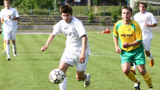 Fotbalisté SK Hranice hráli uvolněně, zatímco soupeř se sice snažil, avšak takřka bez efektu.
