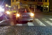 Nehoda na Náměstí 8. května v Hranicích