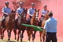 Atraktivní pro návštěvníky byla přehlídka jízdní policie ze Zlína.