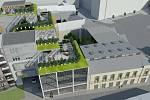 Součástí projektu jsou i podzemní garáže a mezi Blahoslavovou, Palackého a Bratrskou ulicí má vzniknout i malé náměstí se zelení a venkovním posezením.