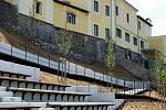 Městské hradby v zámecké zahradě v Hranicích