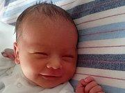 Jan Klement, Bystřice pod Hostýnem, narozen dne 10. listopadu 2016 v Přerově, míra: 50 cm, váha: 3316 g