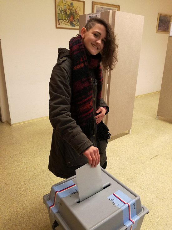 Osmnáctiletá Martina Seibertová z Hranic šla k volbám poprvé