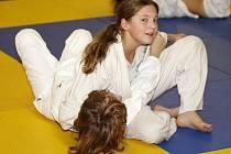 Šarlota Olšáková při tréninku.
