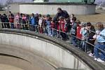 Proces čistění odpadních vod si vyslechli také žáci 3.B ze ZŠ Struhlovsko