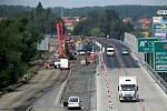 Budování dálnice D48 u Rychaltic