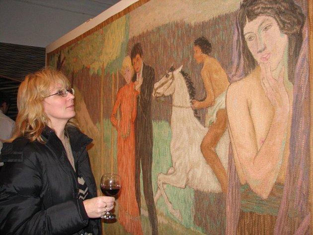 Předlohou gobelínu byl obraz Jana Preislera.