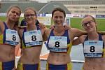 Hranické běžkyně: zleva Adéla Dostálová, Kristýna Podjuklová, Klára Úlehlová a Adéla Zdražilová