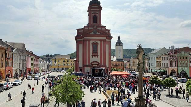 Masarykovo náměstí v Hranicích. Ilustrační foto