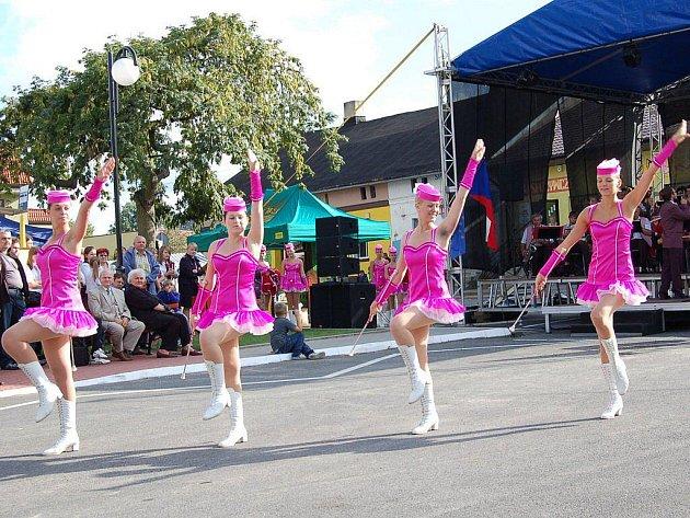 Hranické mažoretky Panenky na festivalu v Polsku